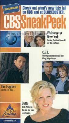 CBS Sneak Peek VHS