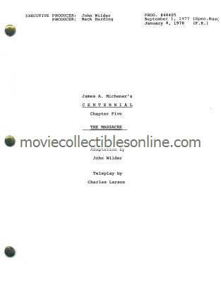 Centennial Script - The Massacre