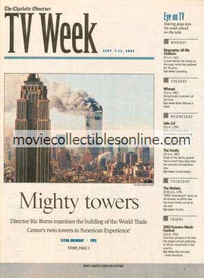 9/7/2003 Charlotte Observer TV Week